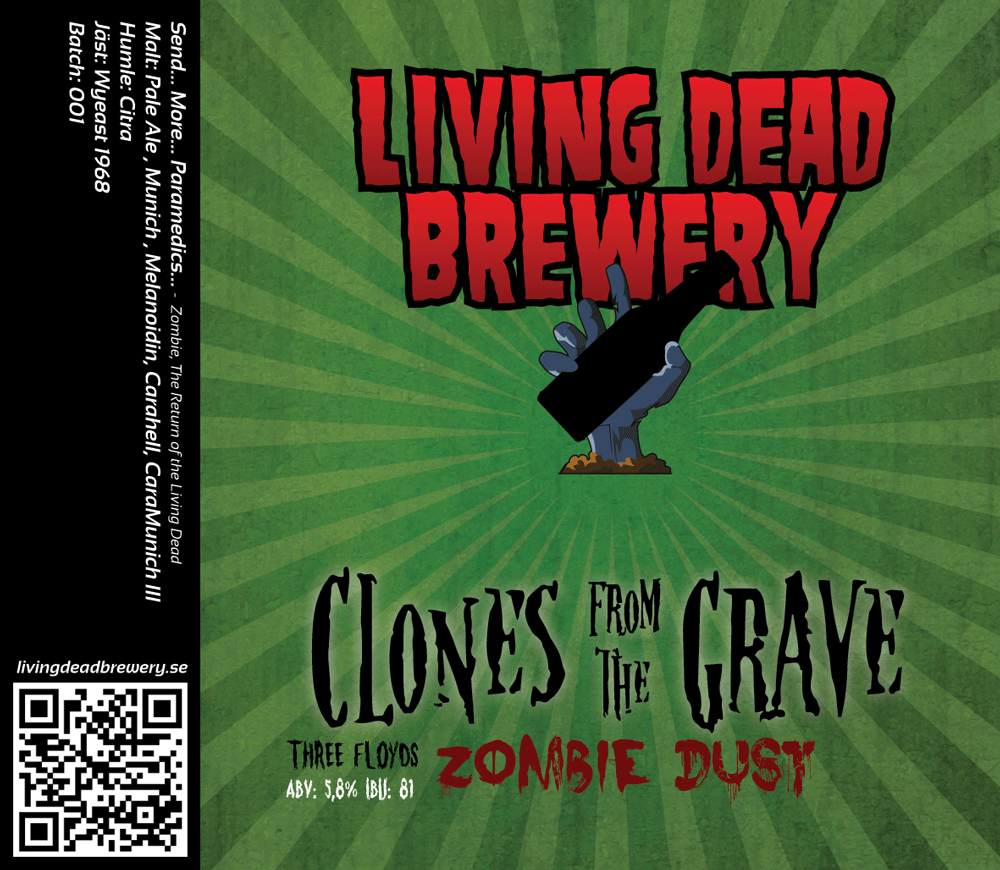 Etikett: Clone from the Grave: Zombie Dust